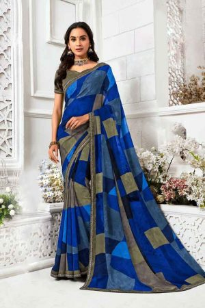 Laxmipati Georgette Multicolor Saree