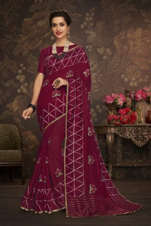 LAXMIPATI PERRY RED COTTON-SILK SAREE