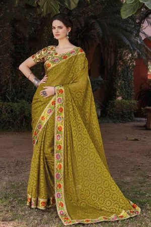 Laxmipati Georgette multi color saree