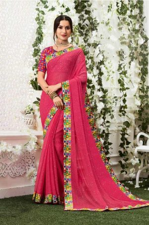 Laxmipati Georgette multicolour saree