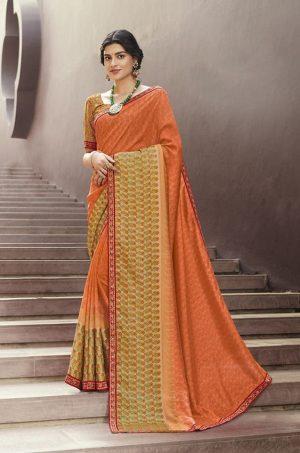 Laxmipati Multicolor Unique Fancy Fabric Saree