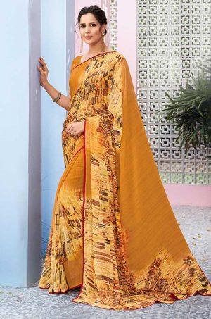 Laxmipati Georgette with digital print Multicolor Saree