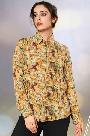 Laxmipati Kanebo Fabric Multicolor Women Shirt