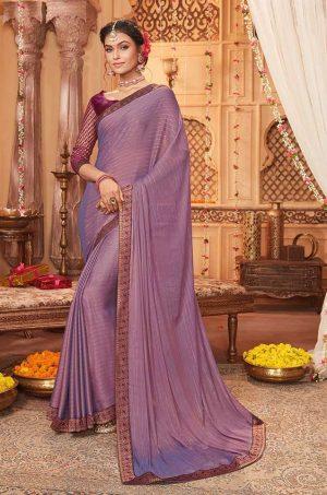 vipul casual & evening wear purple colour saree