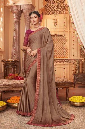 vipul casual & evening wear beige colour saree