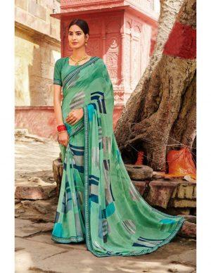 Laxmipati Chiffon Multicolor Saree