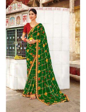 Laxmipati Chiffon Multicolor Bandhni Saree
